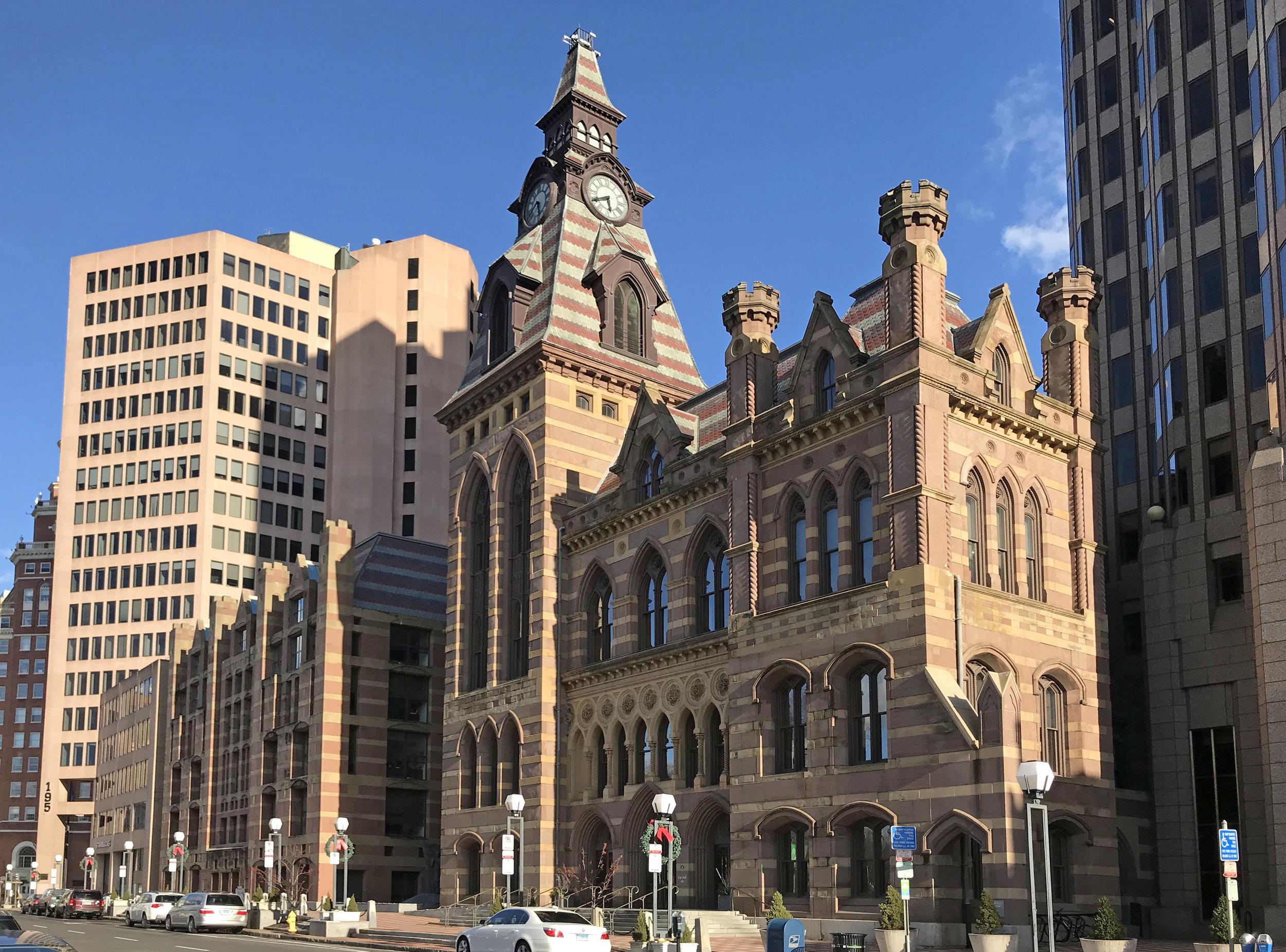 New Haven City Hall, 165 Church Street. Architect: Henry Austin, 1861.
