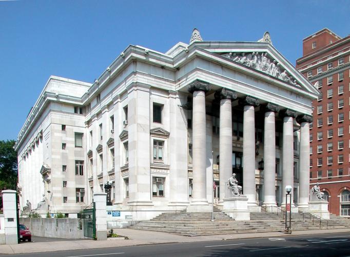 New Haven County Court House, 121 Elm Street. Architect: Wm. H. Allen & Richard Williams, 1909.