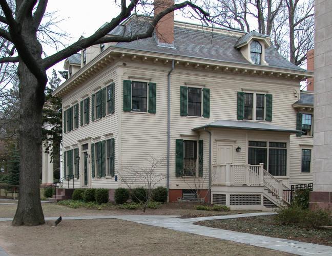 Abigail Whelpley House, 31 Hillhouse Avenue, c. 1826, 1860s remodel by Henry Austin.