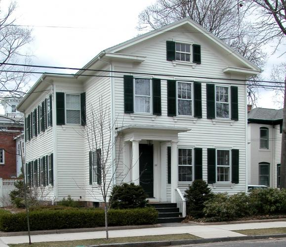 William W. Waite House, 22 Lincoln Street, 1852-59.