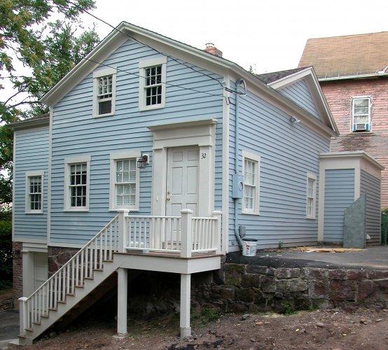 George Burwell House, 32 Chambers Street, c. 1838.