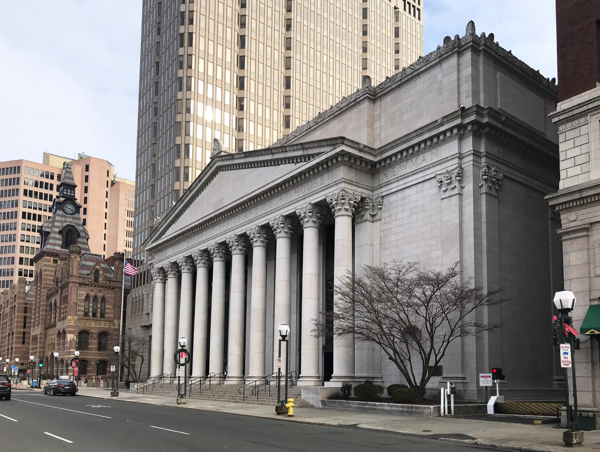 New Haven Post Office and Federal Building, 141 Church Street. Architect: James Gamble Rogers, 1913.