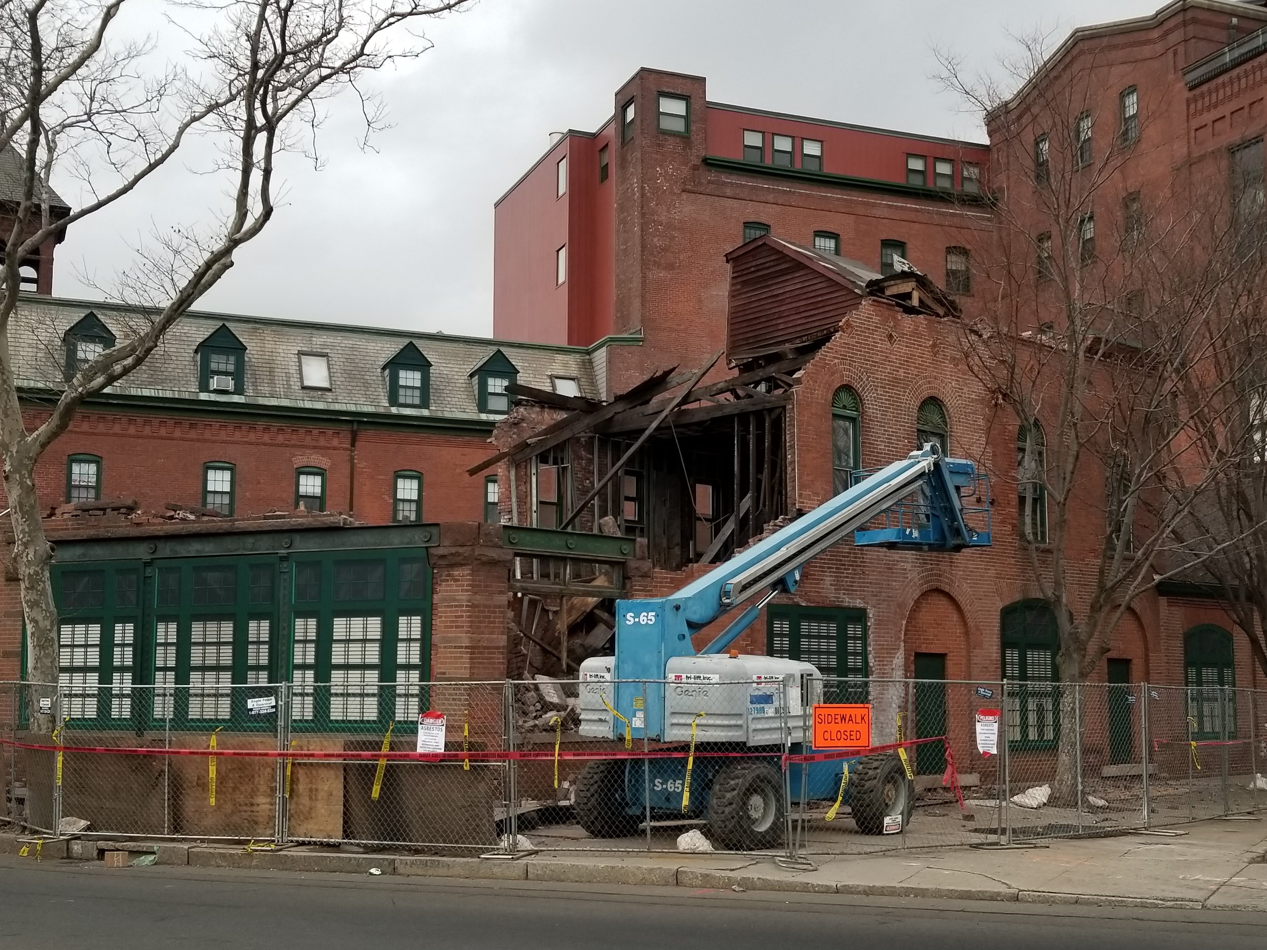 Brewery Gatehouse during construction