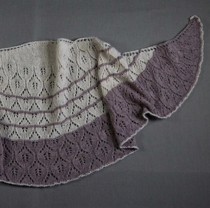 A Potent Remedy- Designed by Alex Richards using our Seafolk 1 ply fingering weight in the colour Amethyst + Our Wild Wool 1 ply fingering weight in Natural White.   https://www.ravelry.com/patterns/library/a-potent-remedy