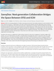 SavvyDox Collaboration Bridges Space Between EFSS & ECM