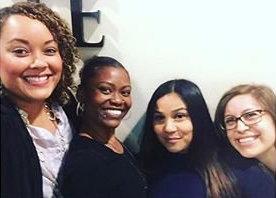 Lena Carew, SMAC Executive Director (Left), Kashmiere Young, SMAC Fellow (Middle Left), Marjorie Blen, SMAC Fellow (Middle Right), Denise Castro, SMAC Program Coordinator (Right)