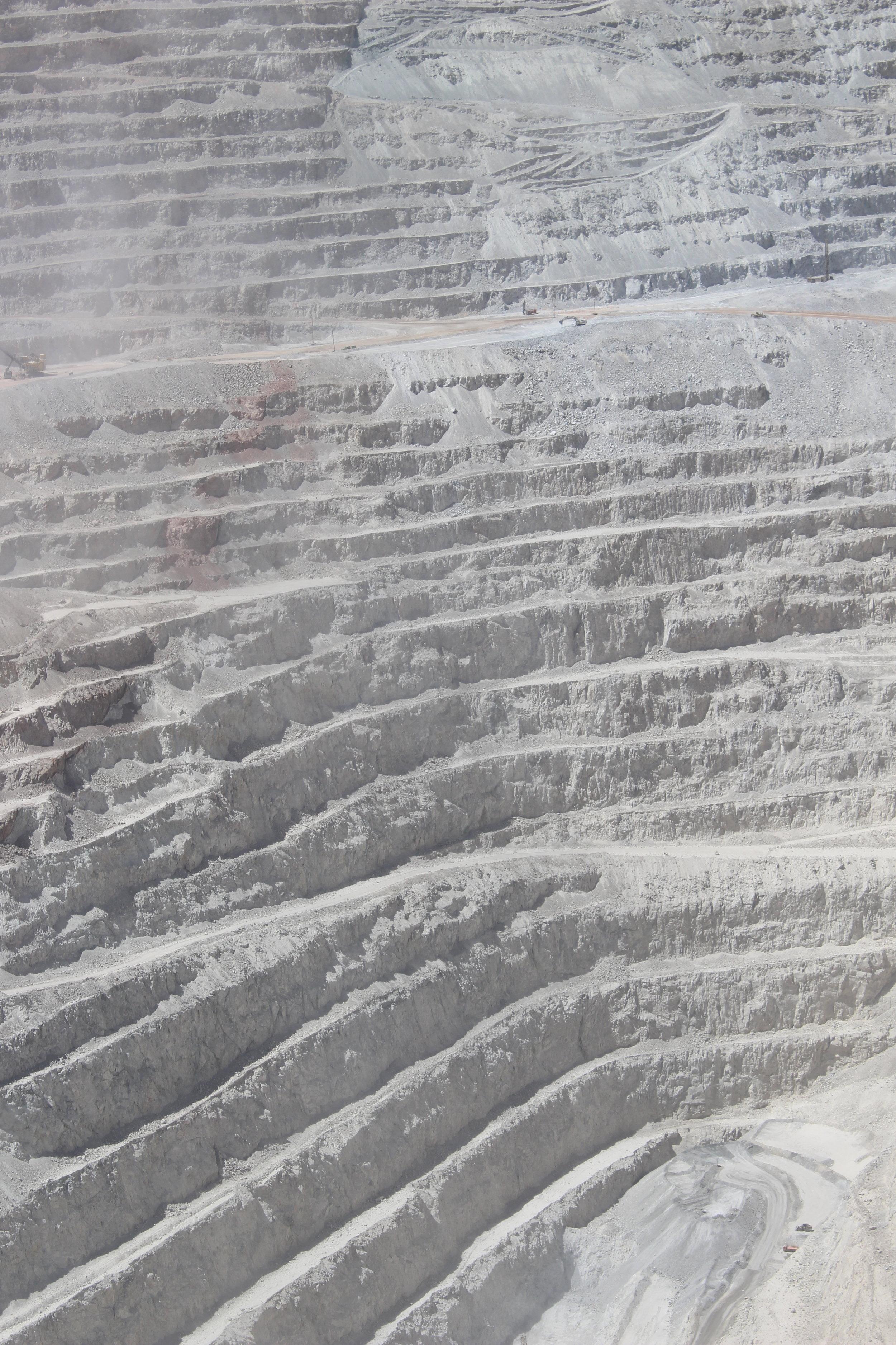 Chuquicamata copper mine located in the Atacama Desert,  Hannah Rowan.