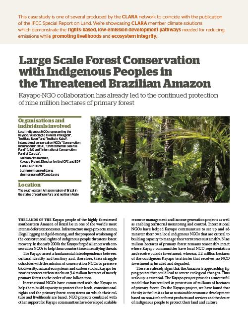 Kayapo Project - Brazil