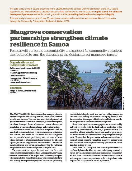 Global Forest Coalition - Samoa