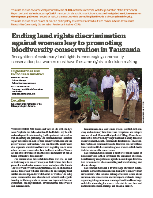 Global Forest Coalition - Tanzania