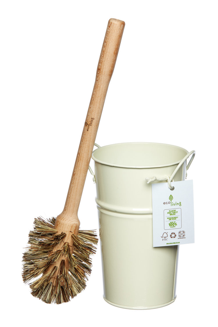 Plastic free toilet brush set