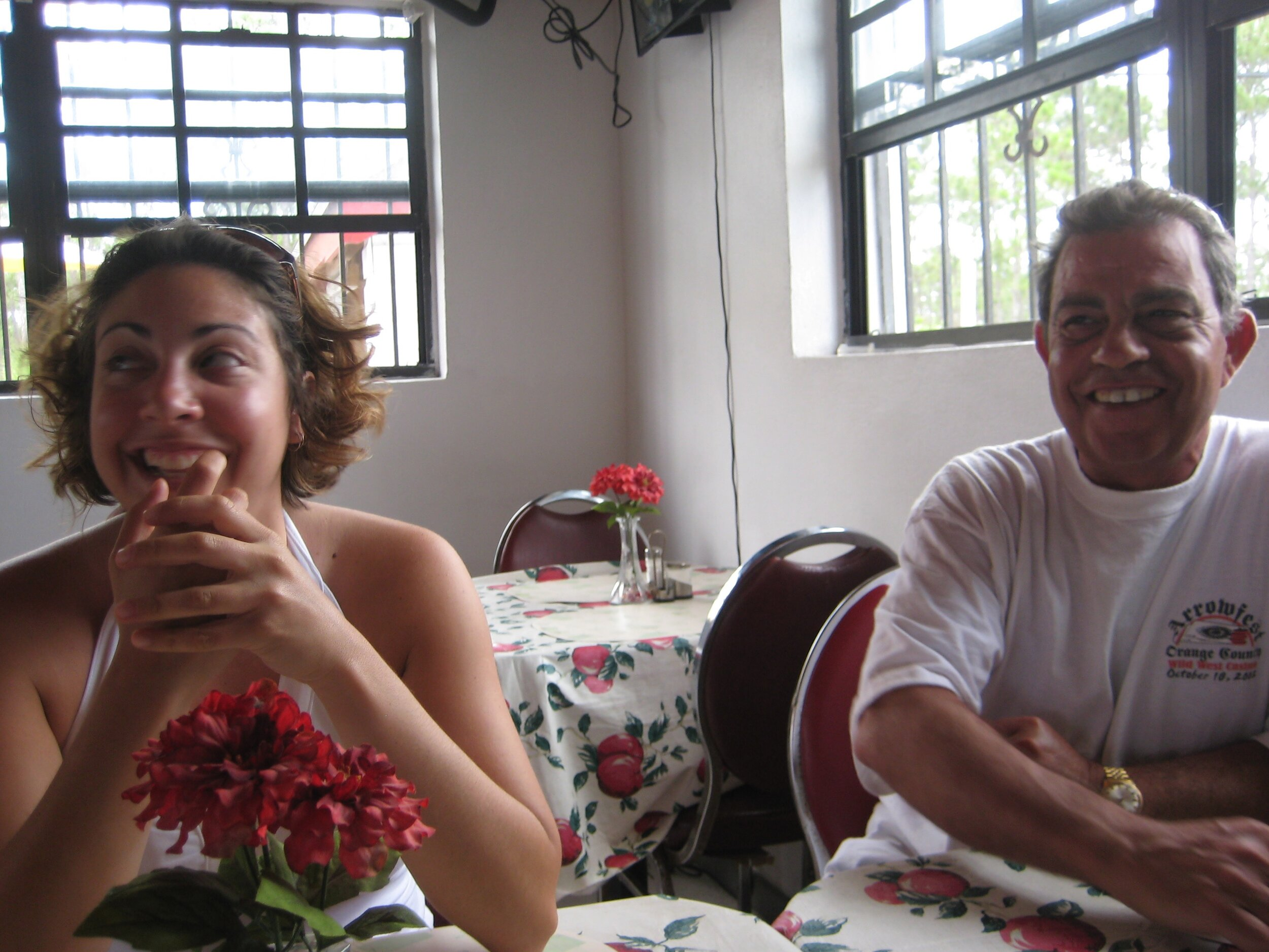 Dad and me laughing during our Bahamas vacation, May 2007.