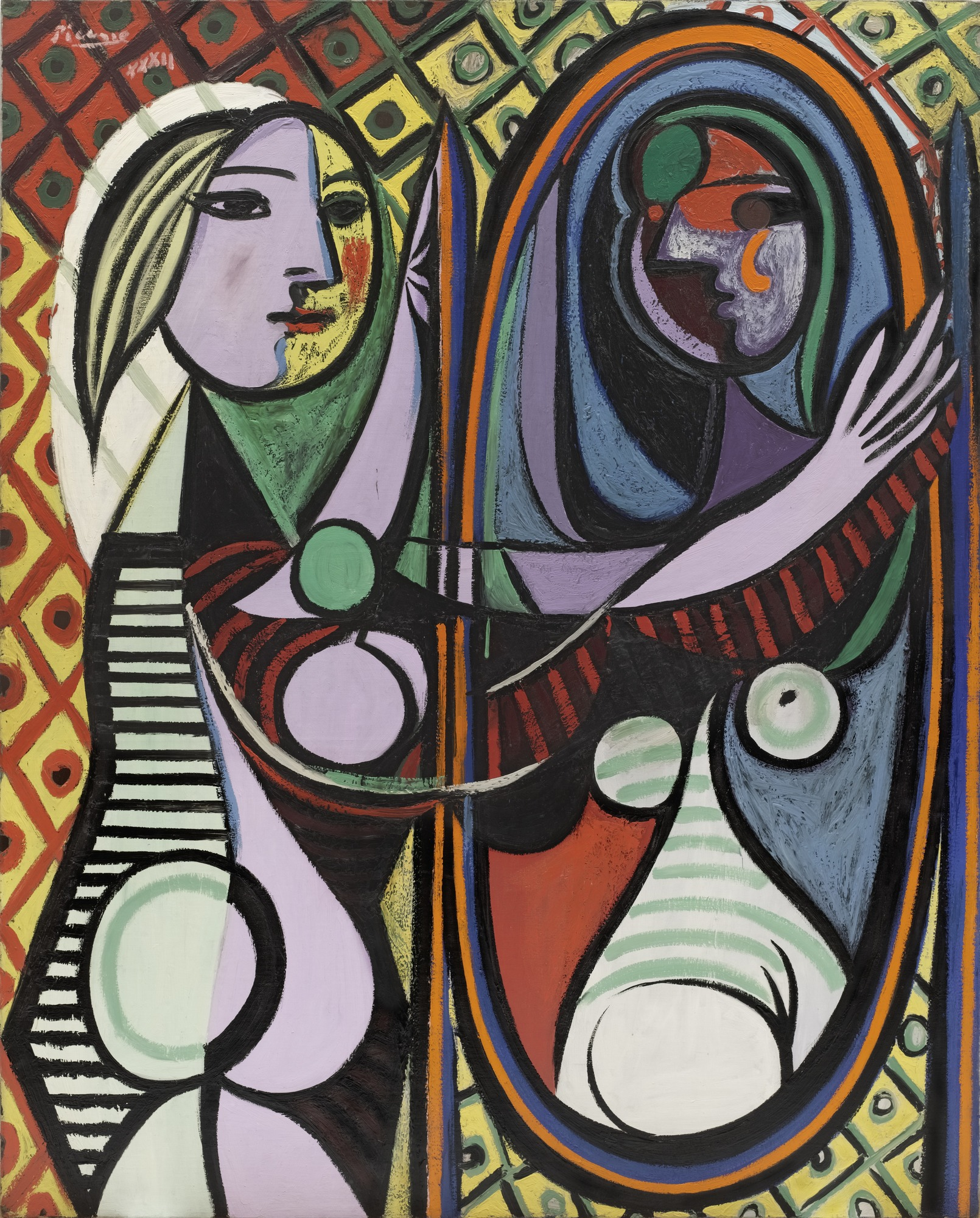Girl Before a Mirror, 1932, oil on canvas