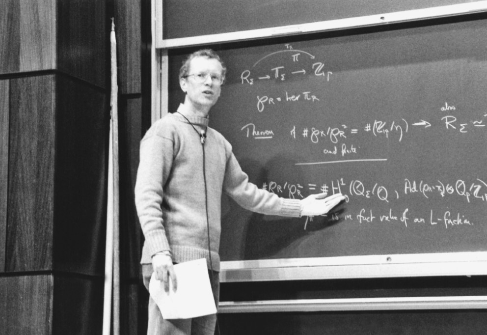 "Andrew ""I've Had the Best Sex Ever"" Wiles - Mr. Wiles discovered Fermat's Theorem as a child and worked to solve it from that point on. And solve it he did.Here we see Wiles displaying his mathematical proof of his monster dong."