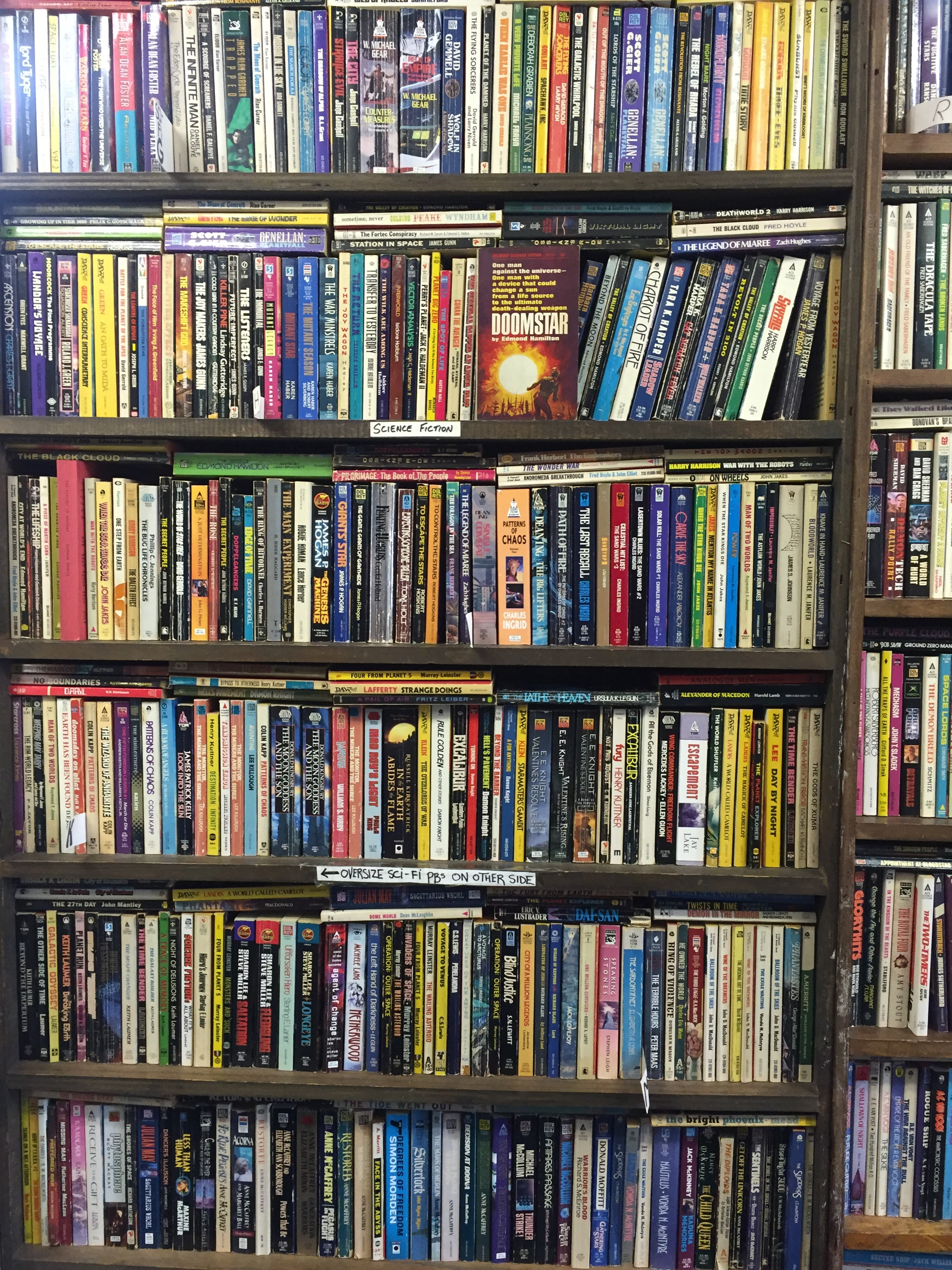 The Sci-Fi Wall at Idle Time Books