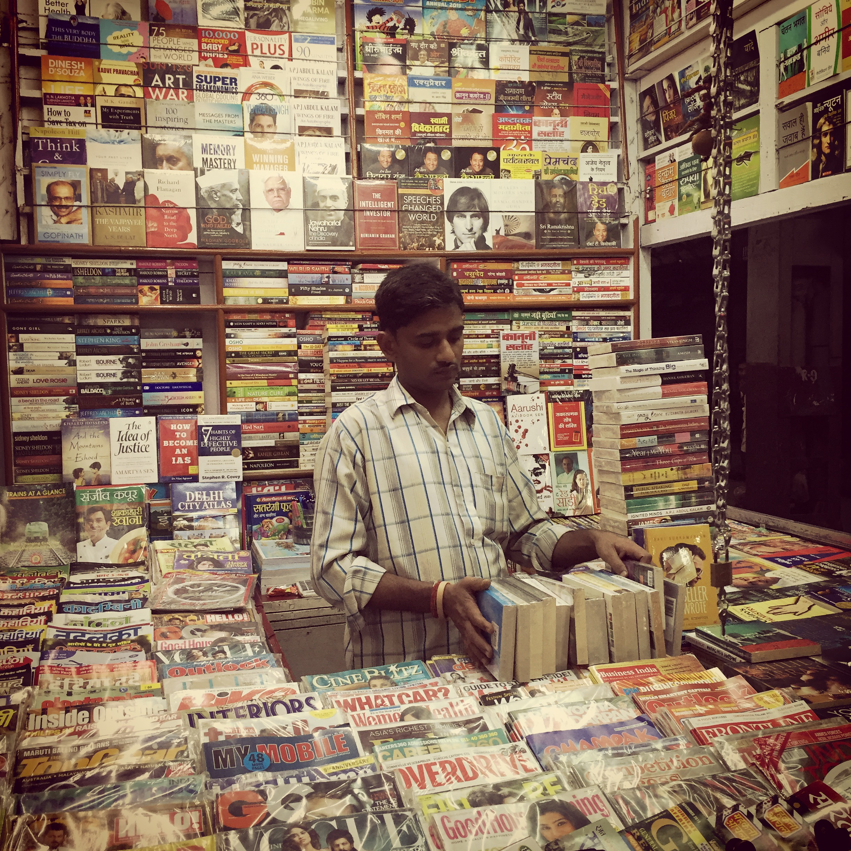 Delhi platform reading life