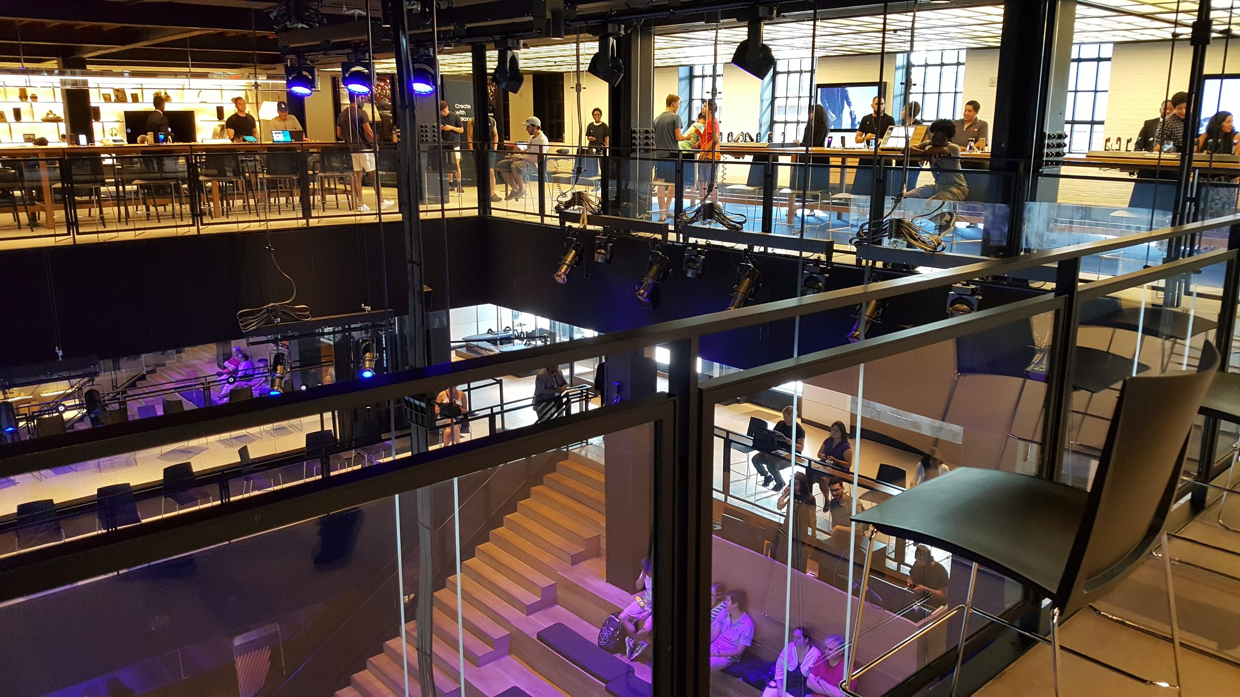 Samsung's 837 store in Manhattan's Meatpacking District provides tech support along with a dazzling display of technology-based entertainment and experiences.