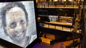 A selfie station allows you to bean your image onto the two-story screen so you can Instagram it.
