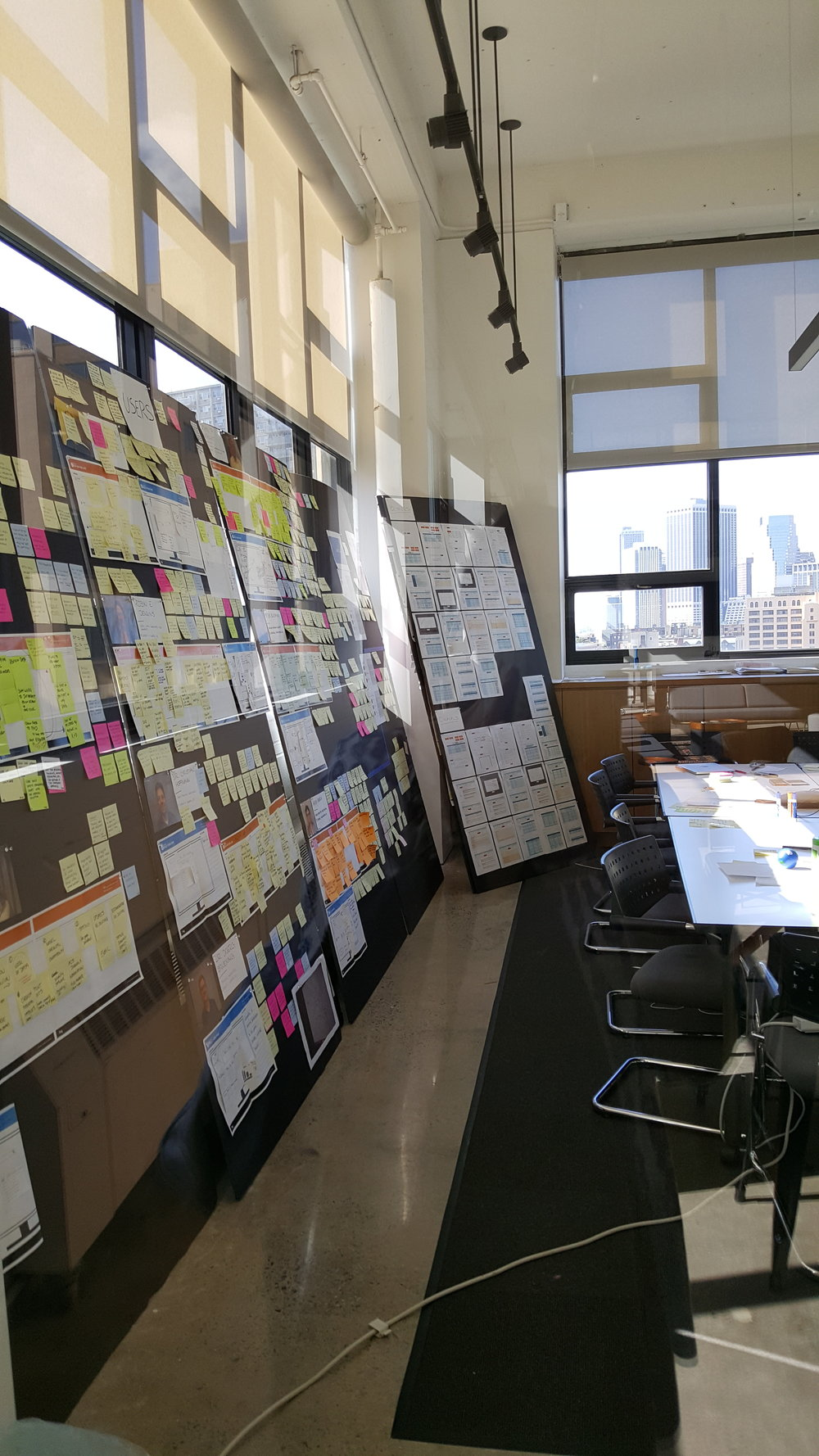 A glimpse of the ideation process at frog in one of the medium-sized private team spaces (unfortunate reflection because we had to shoot through the glass).
