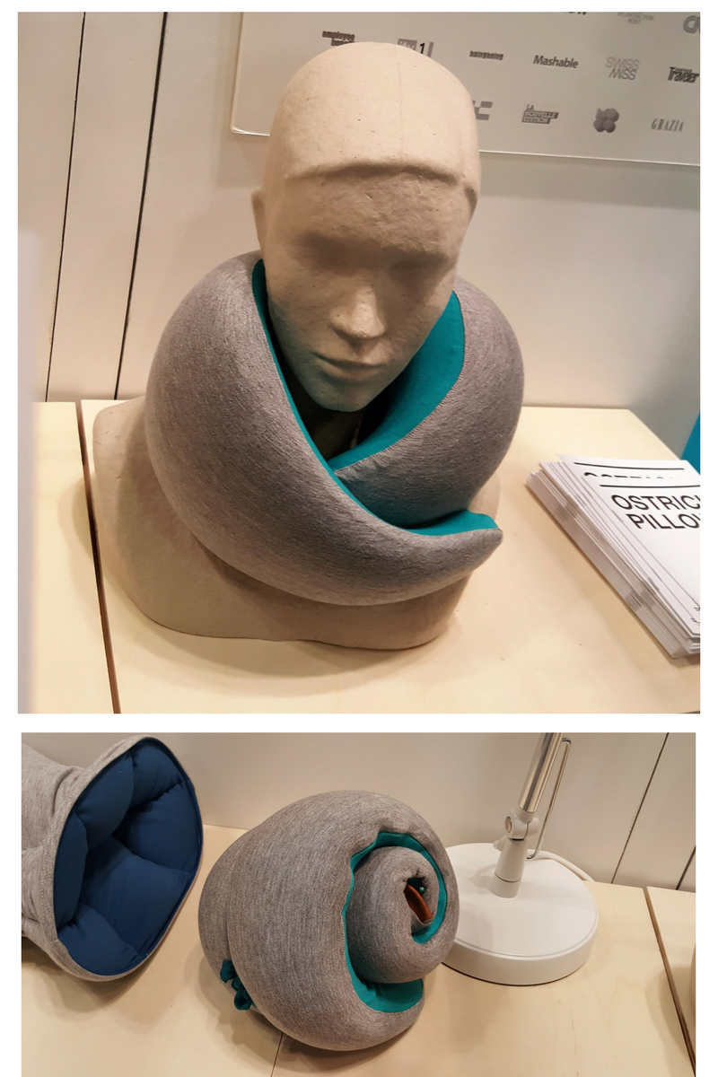 Made of memory foam, the ostrich pillow has to be the best-looking travel pillow out there. $60. ostrichpillow.com.