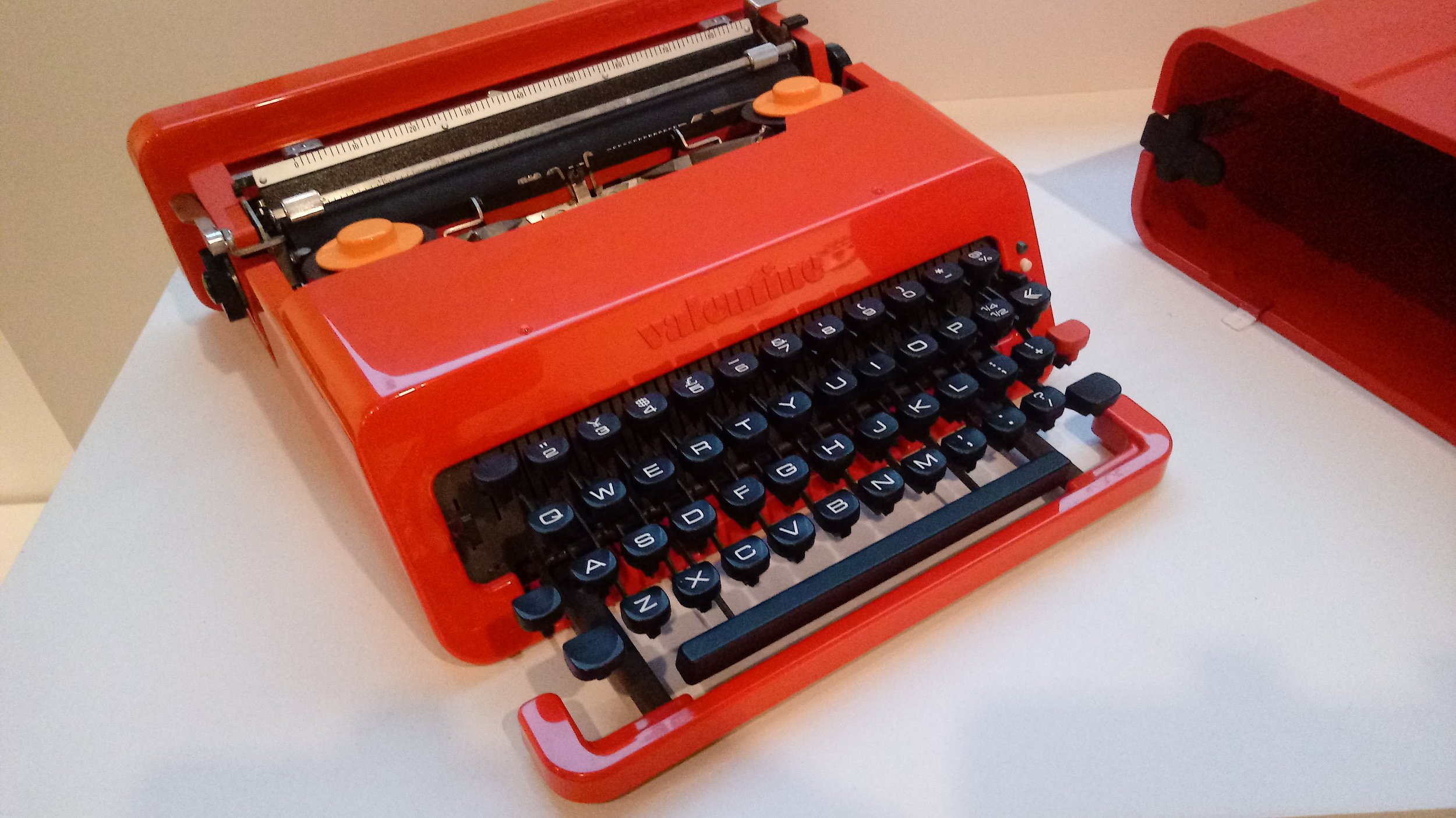 Lightweight and vibrant, the  Valentine  typewriter by Ettore Sottsass for Olivetti was a departure from the bulky and drab machines of the day and a forerunner to the colorful and playful iMac.