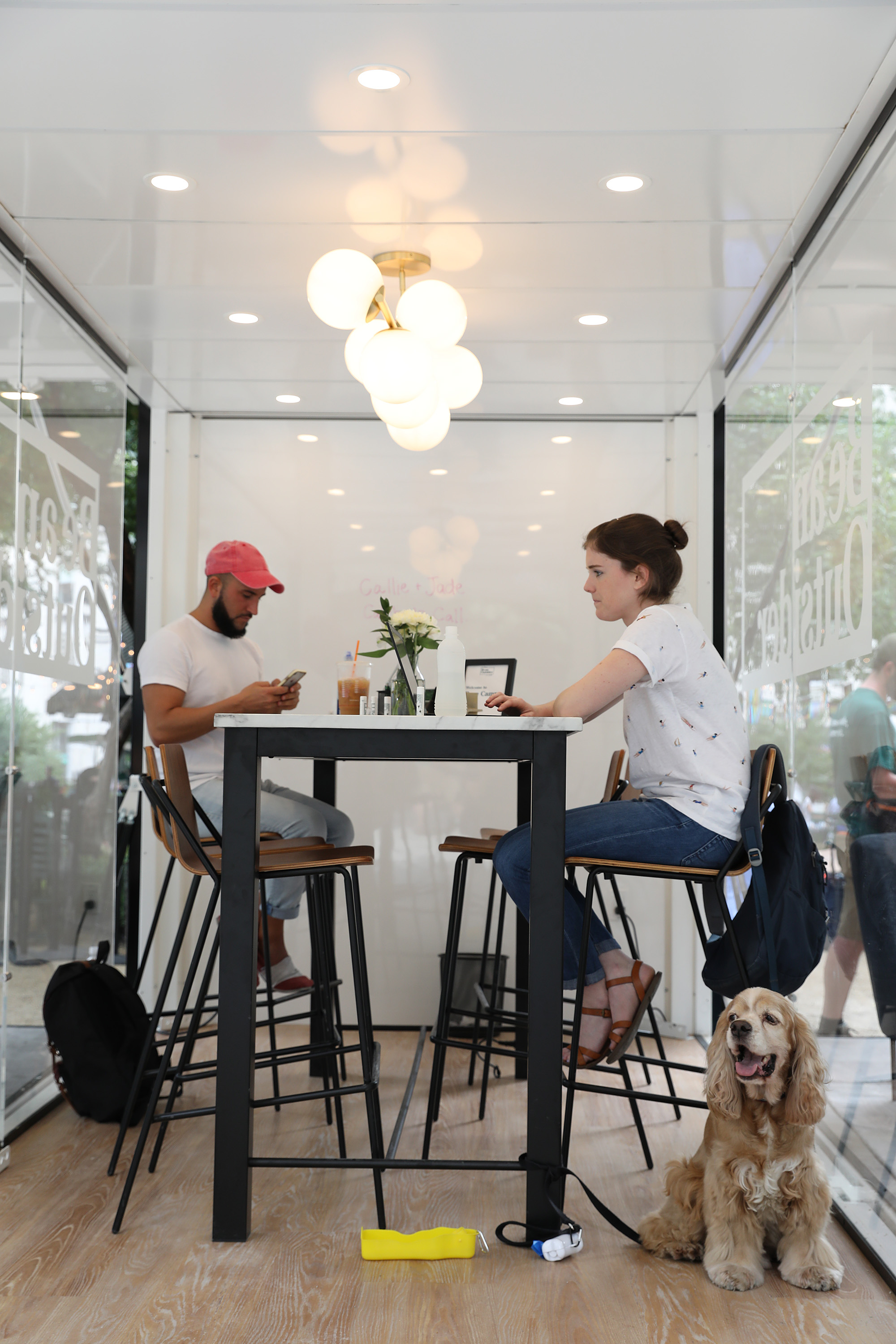 Industrious leveraged its design expertise to develop several options for coworking outdoors.