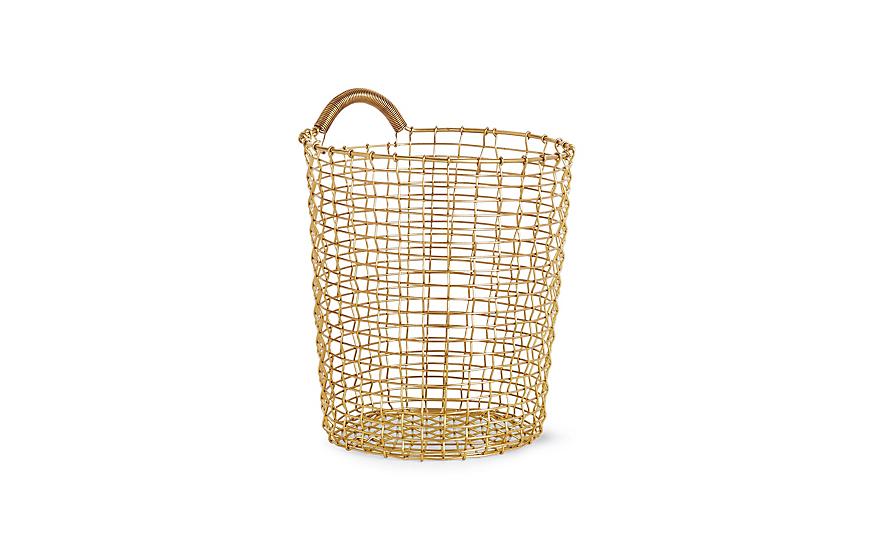 Korbo Handmade Wire Basket, Bin 18 - Brass or stainless steel$200.00