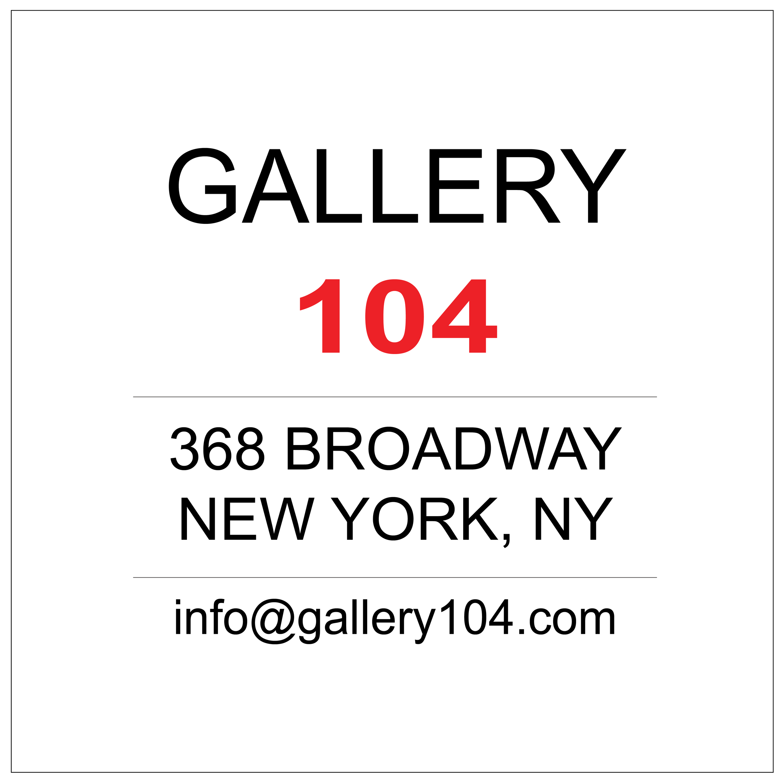 Gallery 104 NYC
