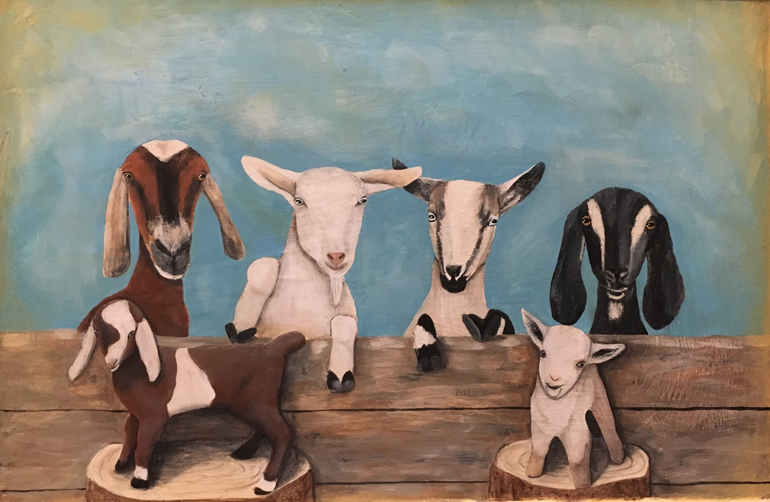 Fresh From the Farm - These paintings are inspired by our own farm animals and also by animals from surrounding farms in our area.