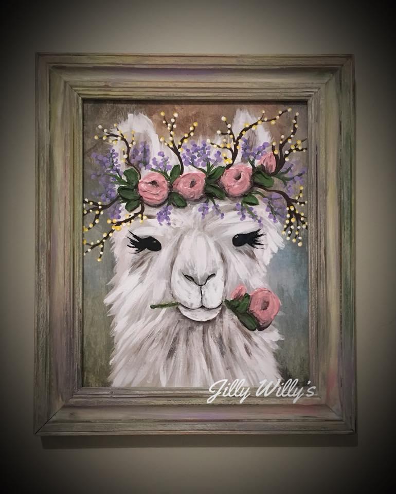Kaitlyn - Kaitlyn the Llama, inspired by Smokey Mnt Llama Trek, TN