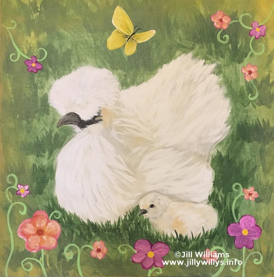 Spring Chicks - The Silkie Chickens of Flynn Farm, Jasper, GA