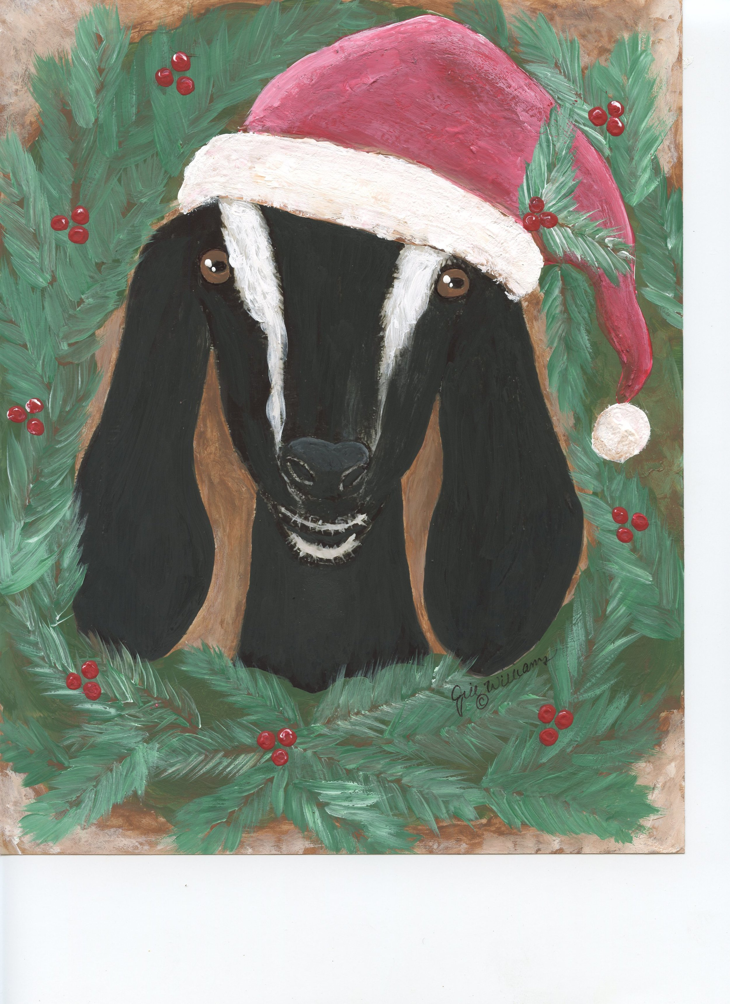 Christmas Blessings - Inspired by Regan, a nubian doe who lives at Town Mountain Farm, Hayesville, NC
