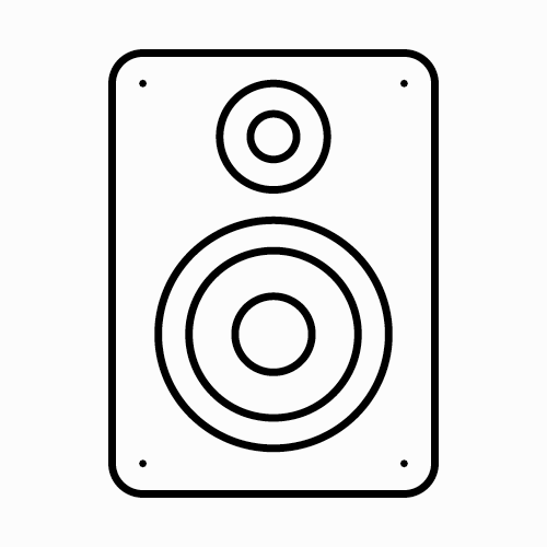 Speakers (Bluetooth or AUX) -