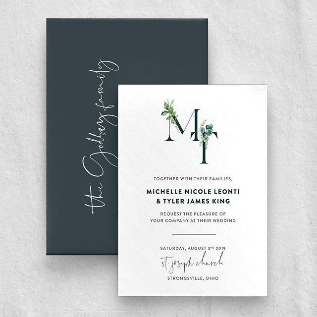 Botanicals are always in 🌿🍃 . . . #weddingstationery #clevelandweddingvendors #clevelandweddings #invitations