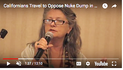 On Our popular EON YouTube Channel     https://www.youtube.com/watch?v=rWlZt-JtE1s   MB speaks at a Nuclear Regulatory Comm. hearing in Roswell, New Mexico - EON Photo