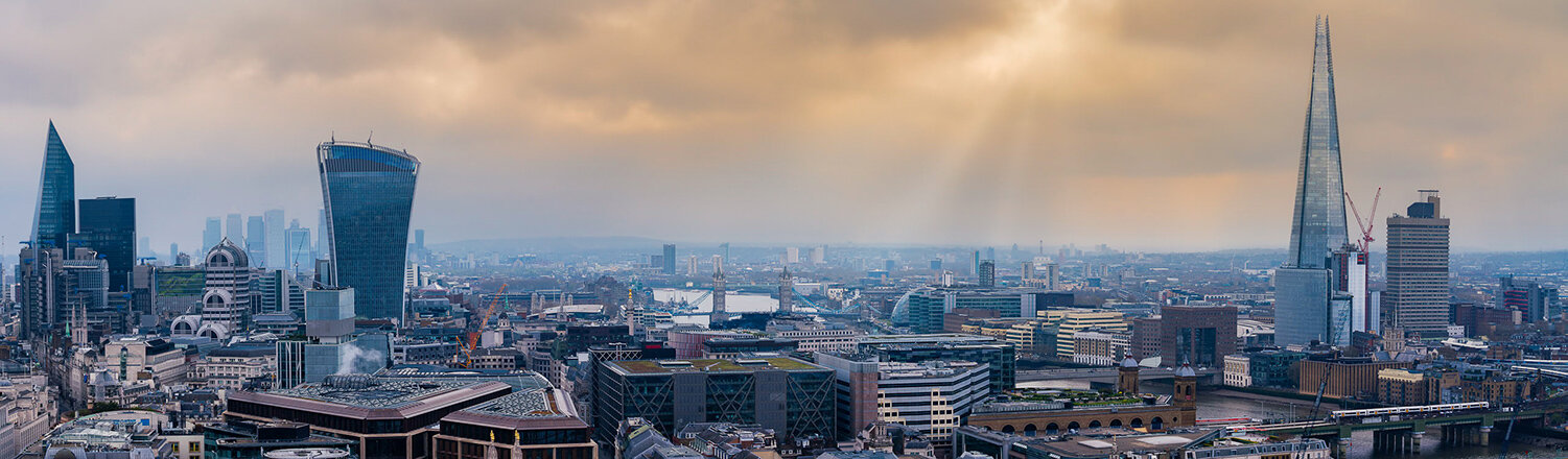 London City Skyline as seen from St. Paul's Cathedral.