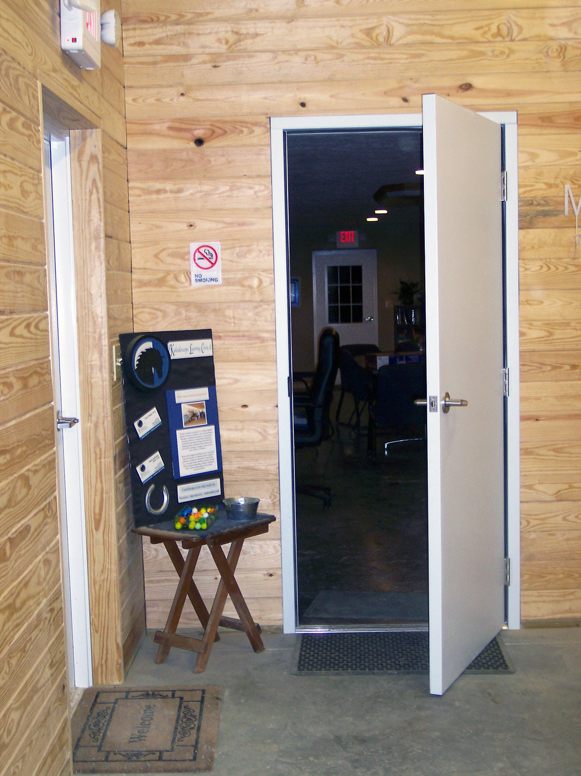 Entrance to Conference Room from Barn