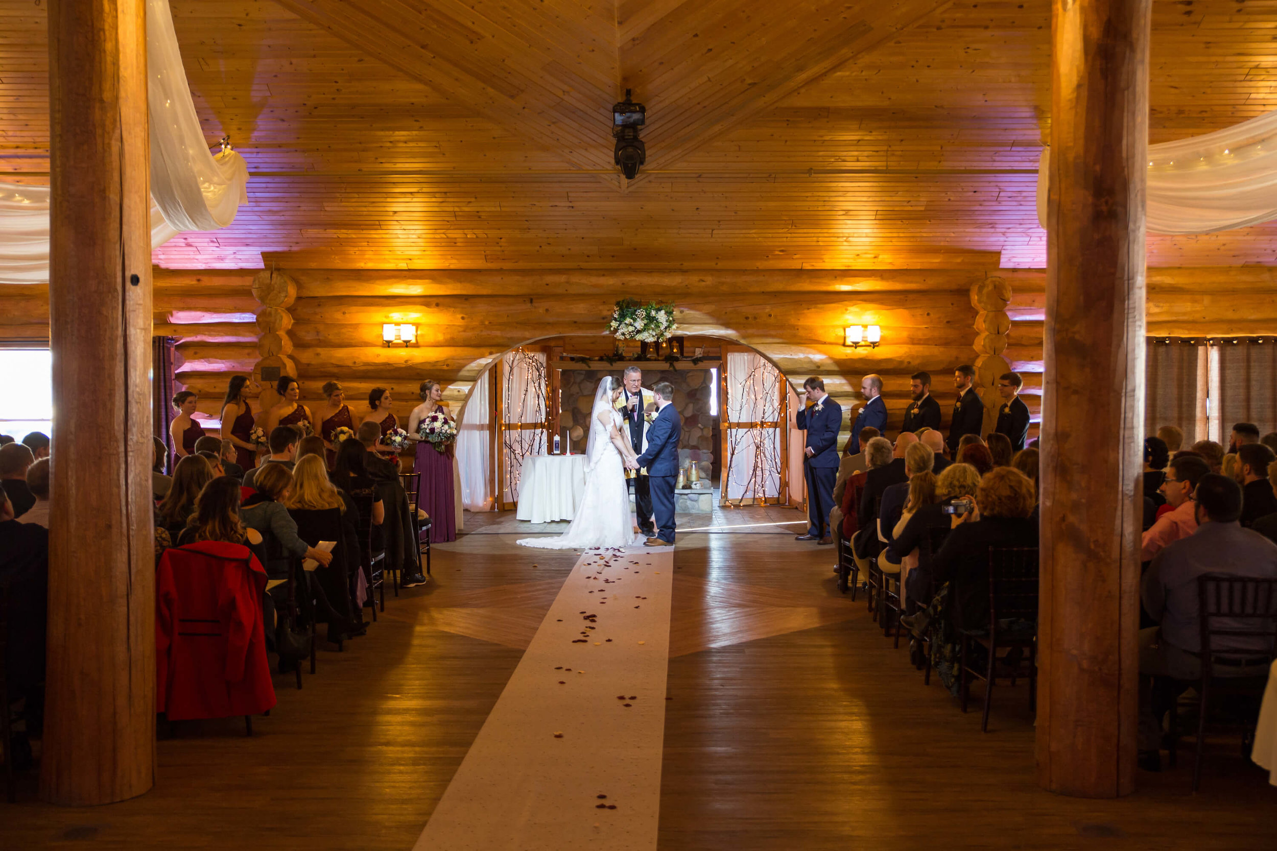 Photographer: Nicki Lynn | Venue: Glenhaven Wedding winter wedding | indoor ceremony.jpg