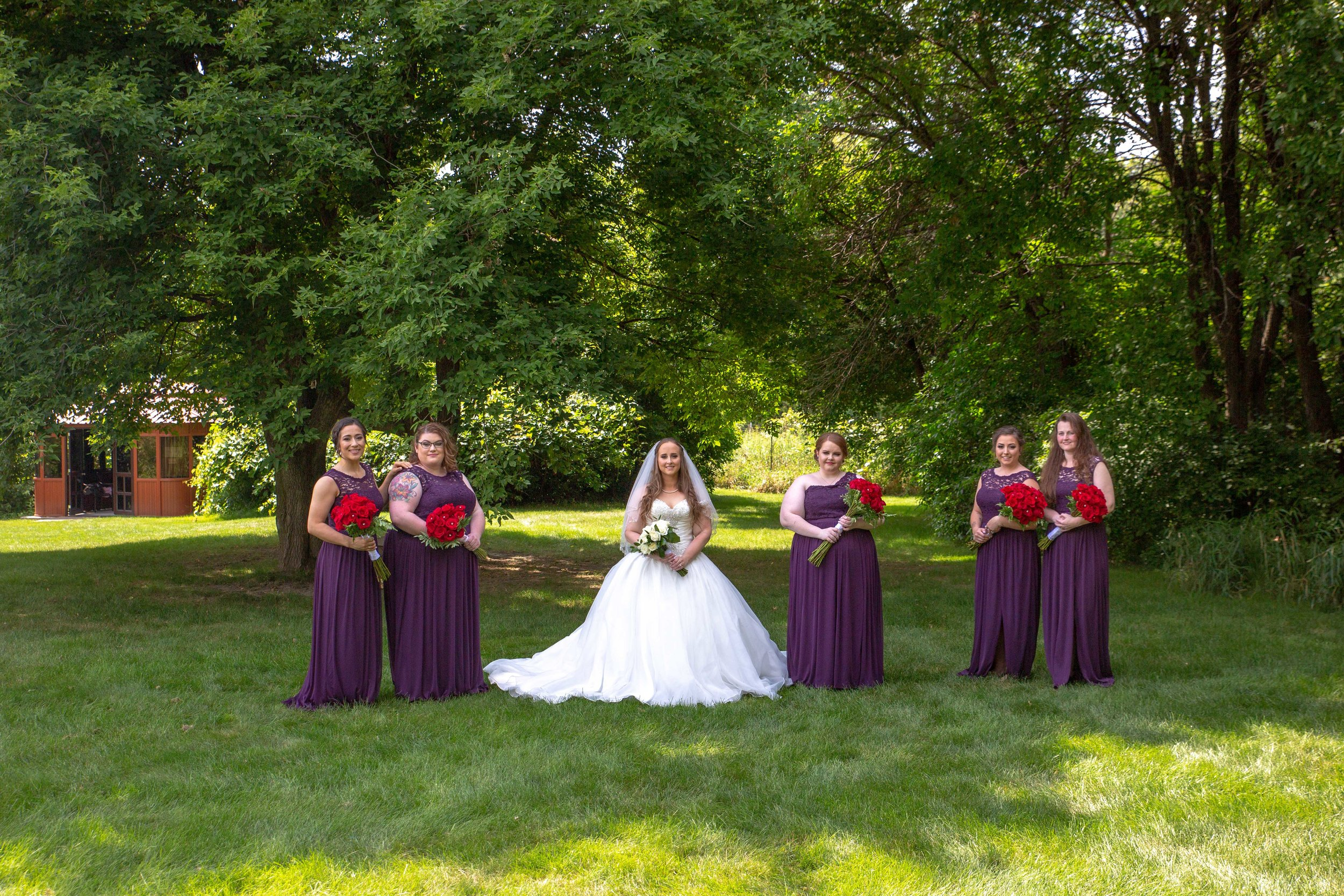 Cindyrella's Garden, Fab Weddings, outdoor Minnesota ceremony, Rosemount wedding, south metro, bridal party