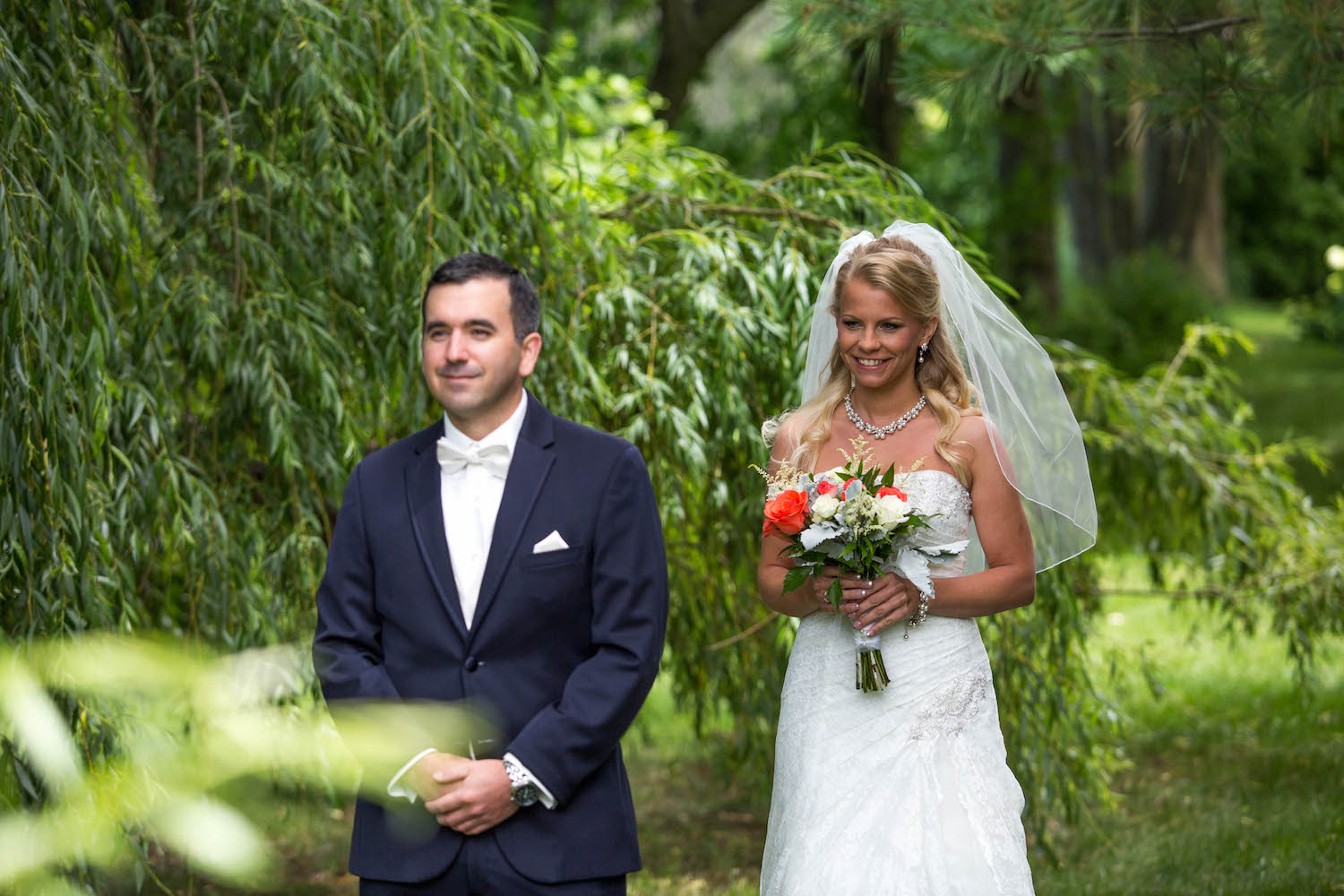 Cindyrellas Garden, outdoor lake ceremony in Minnesota, first look