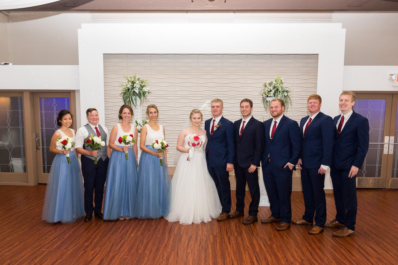 Rosehenge wedding, Lakeville wedding venue, affordable wedding venue in south Minnesota, wedding party photos