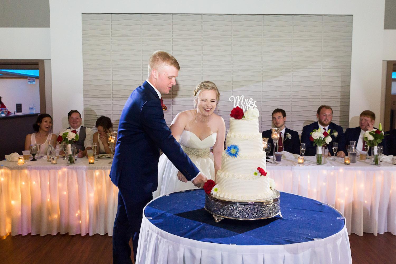 Rosehenge wedding, Lakeville wedding venue, affordable wedding venue in south Minnesota, cake cutting