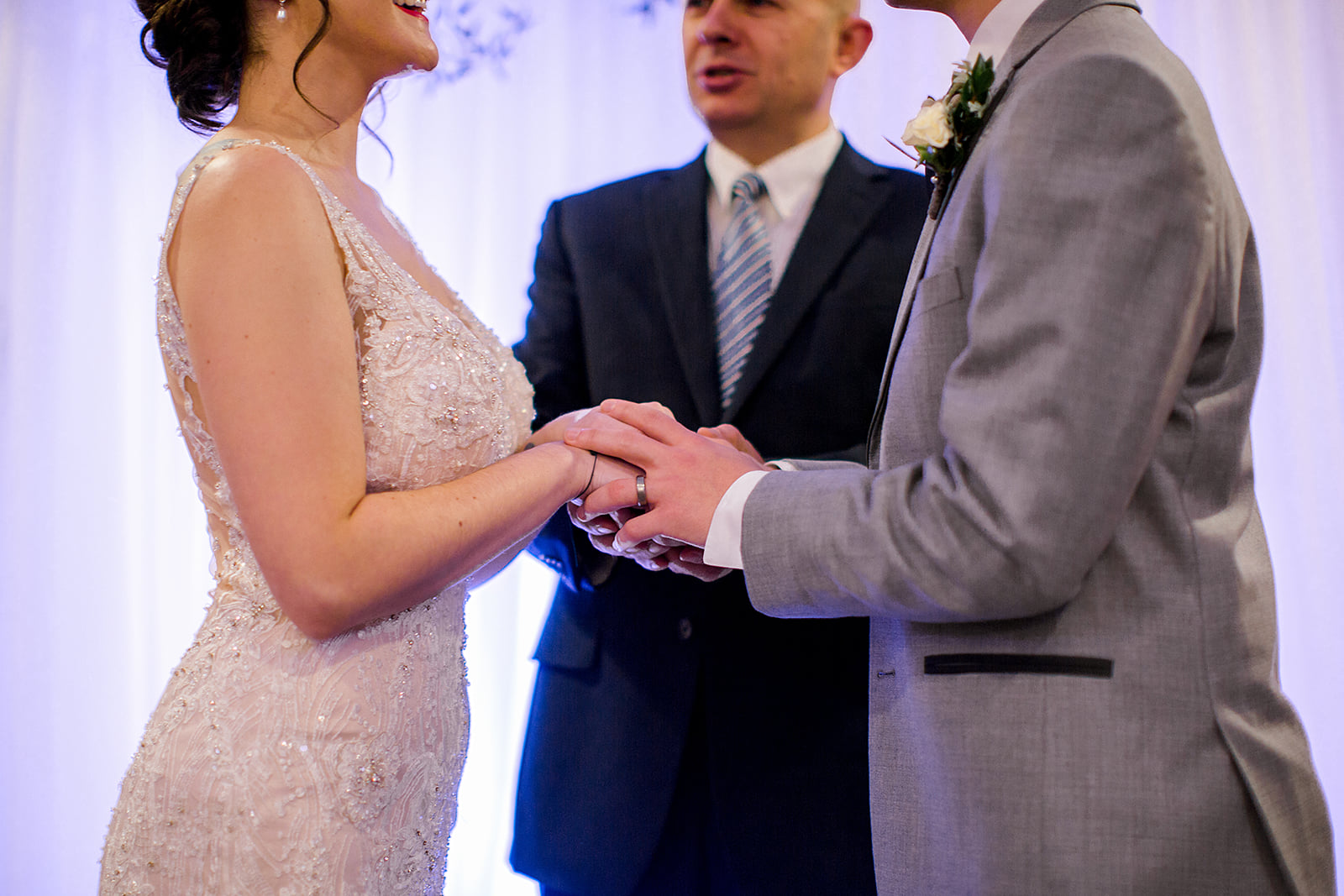 George Maverick Minnesota wedding officiant, will calm your nerves and help you focus on the love Photo by Rachel Graff Photography