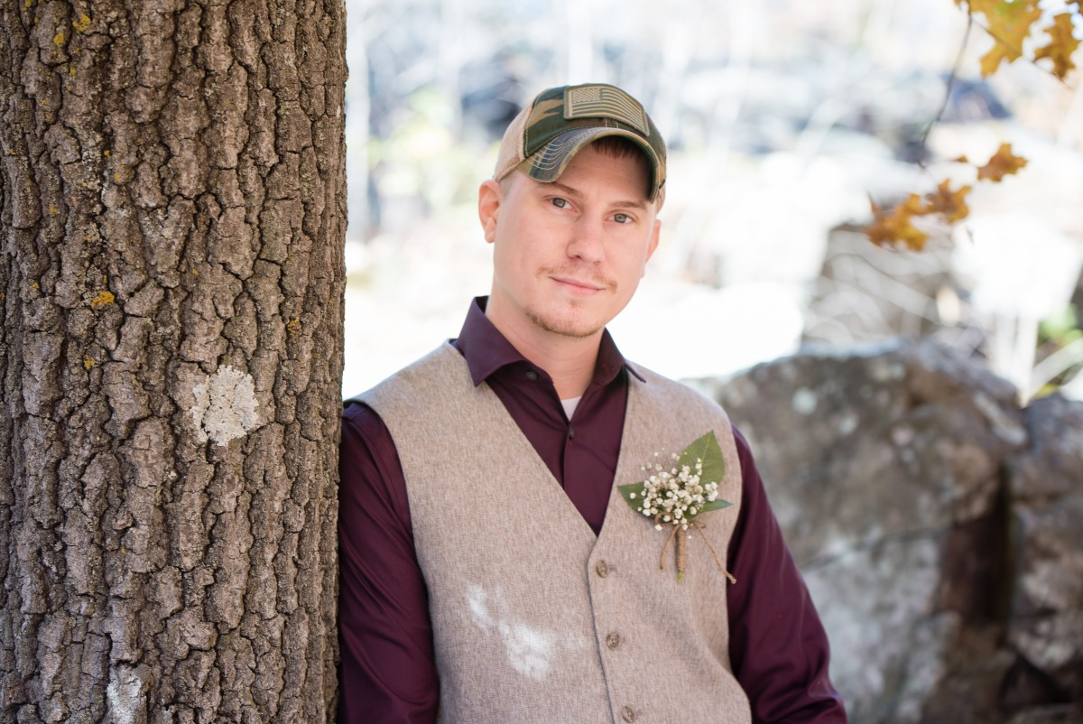 Danielle Albrecht, Fab Weddings | fall wedding | groom in vest