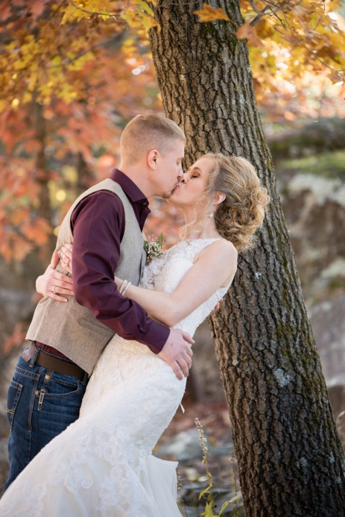 Danielle Albrecht, Fab Weddings | fall wedding | dip picture