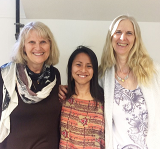 With my Medical Qigong teachers Wendy Lang and Minke De Vos