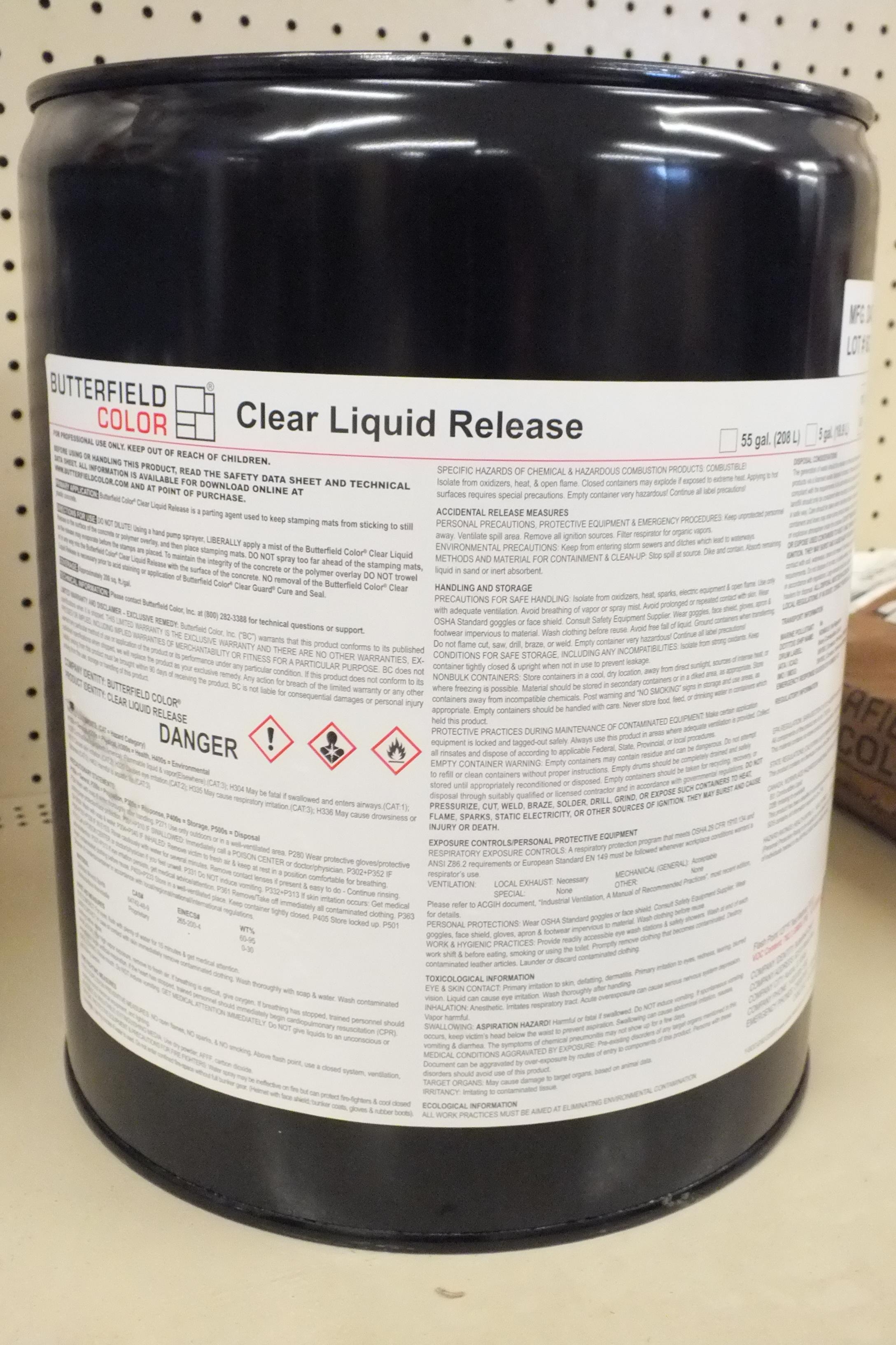 Butterfield Clear Liquid Release -