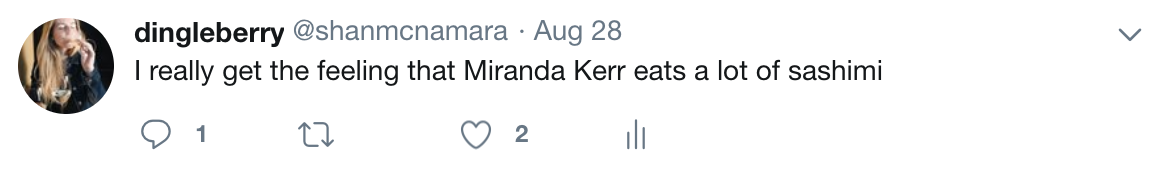 I tried to Google this, but as expected, there's no photos of her eating. I hate her. I love her too, though.