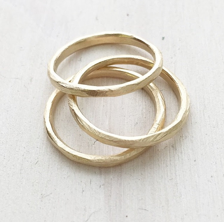 DRIFT Rings - Thin 14k yellow gold bands