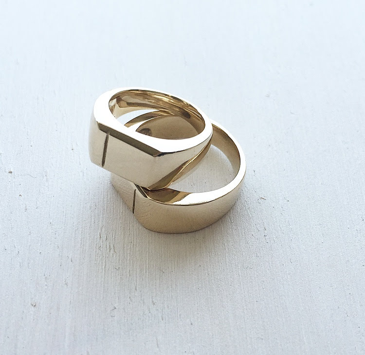 CHANNY + RYAN - Pinky Signets, 14k yellow gold